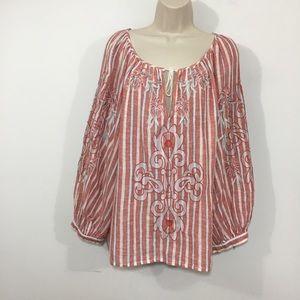 Anthropologie Akemi + Kin embroidered blouse XL